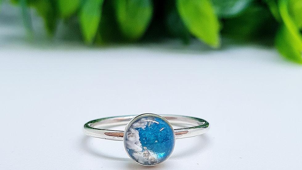 Circle pendant sterling silver memorial ring