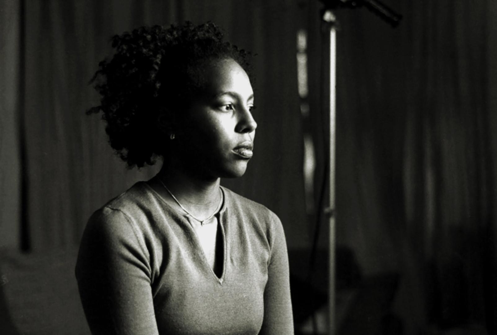 Production still from Aishah Shahidah Simmons' NO! The Rape Documentary