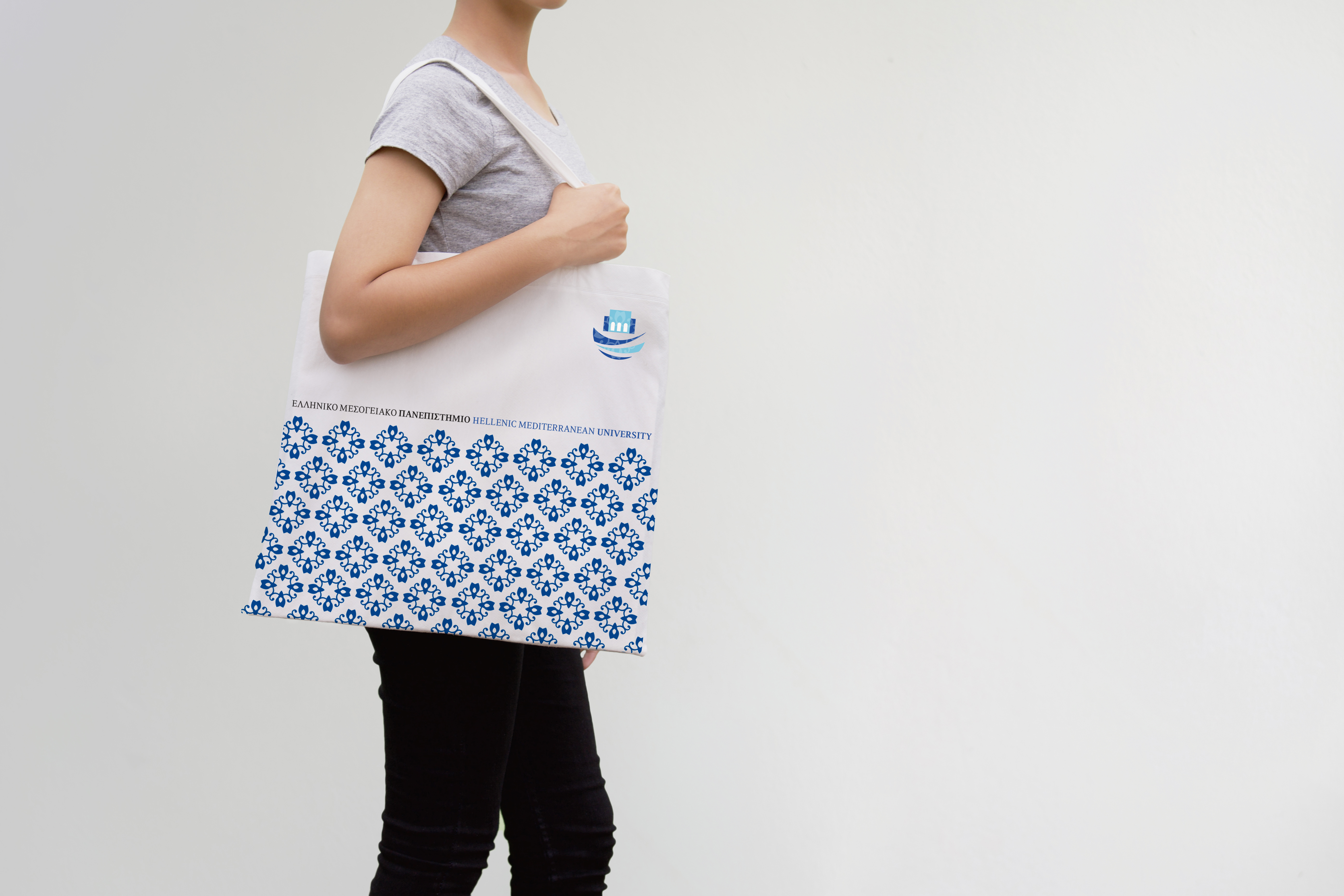 Logo applied on tote bag