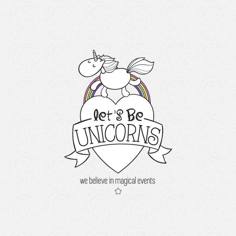 Lets be unicorns logo