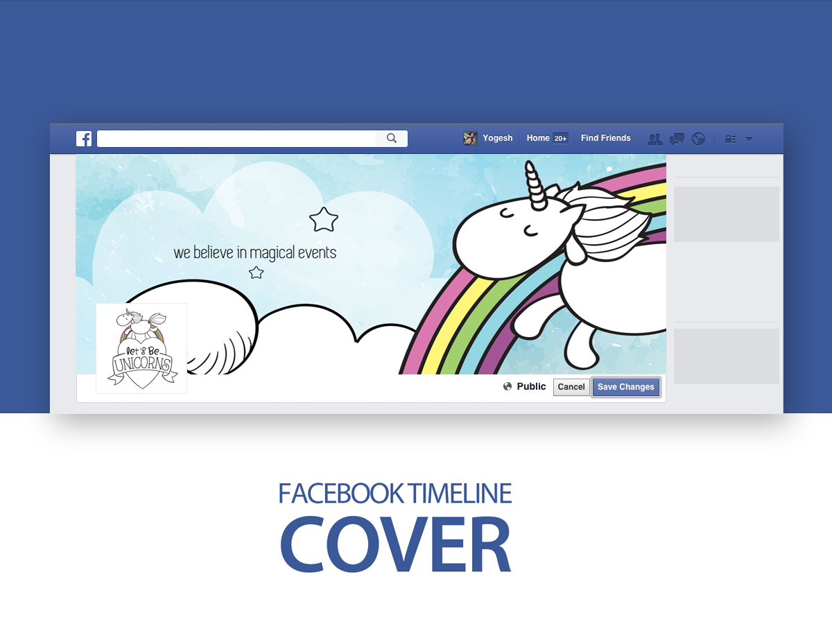 Lets be unicorns facebook cover