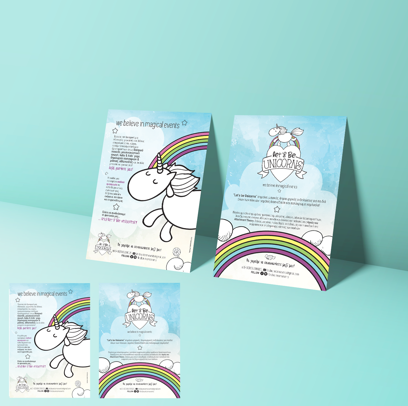 Lets be unicorns promotional flyer