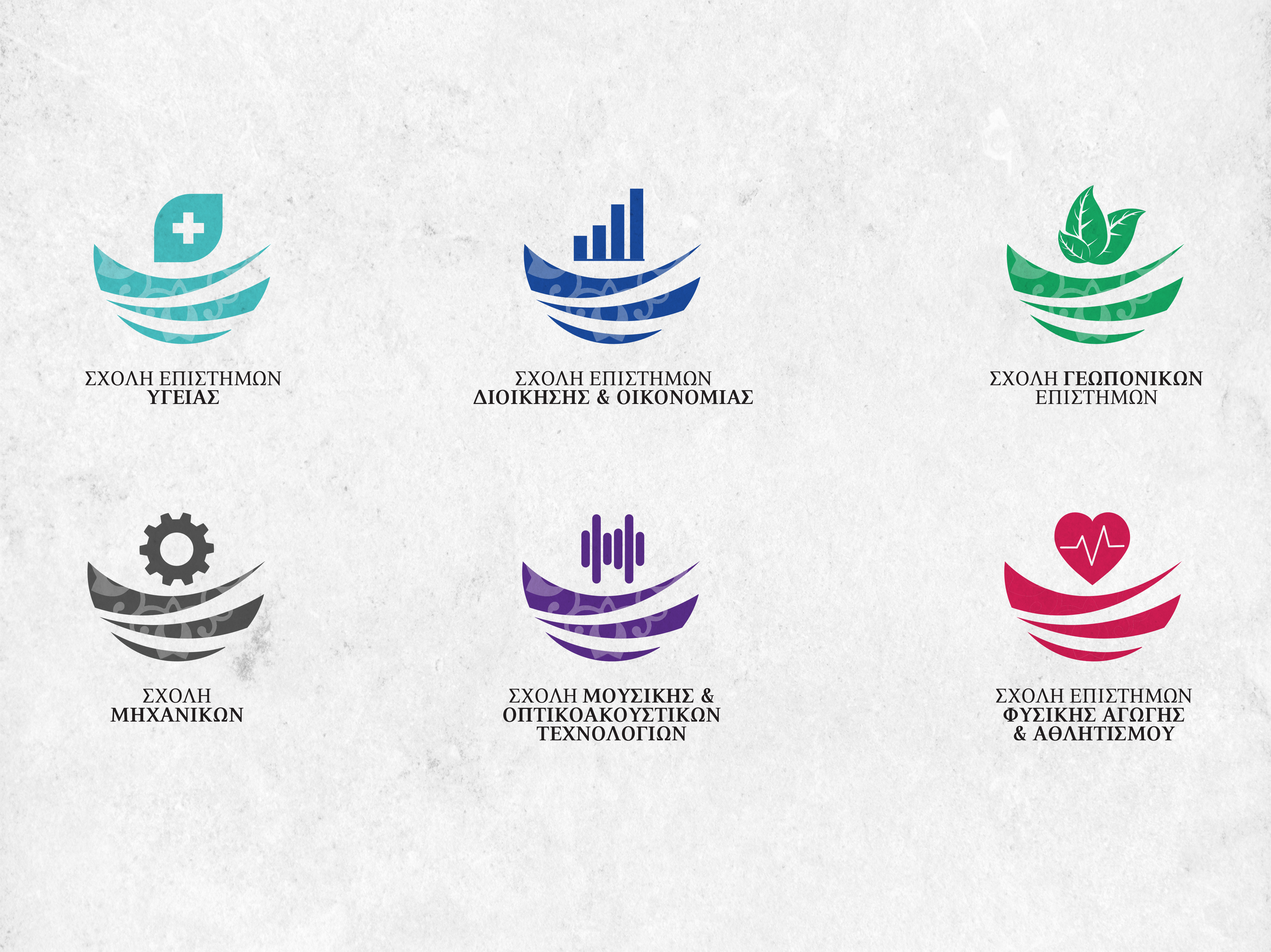 EL.ME.PA logos for fields of study