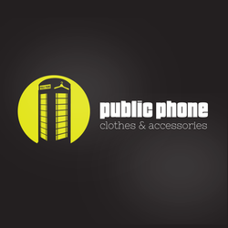 Public Phone fashion logo