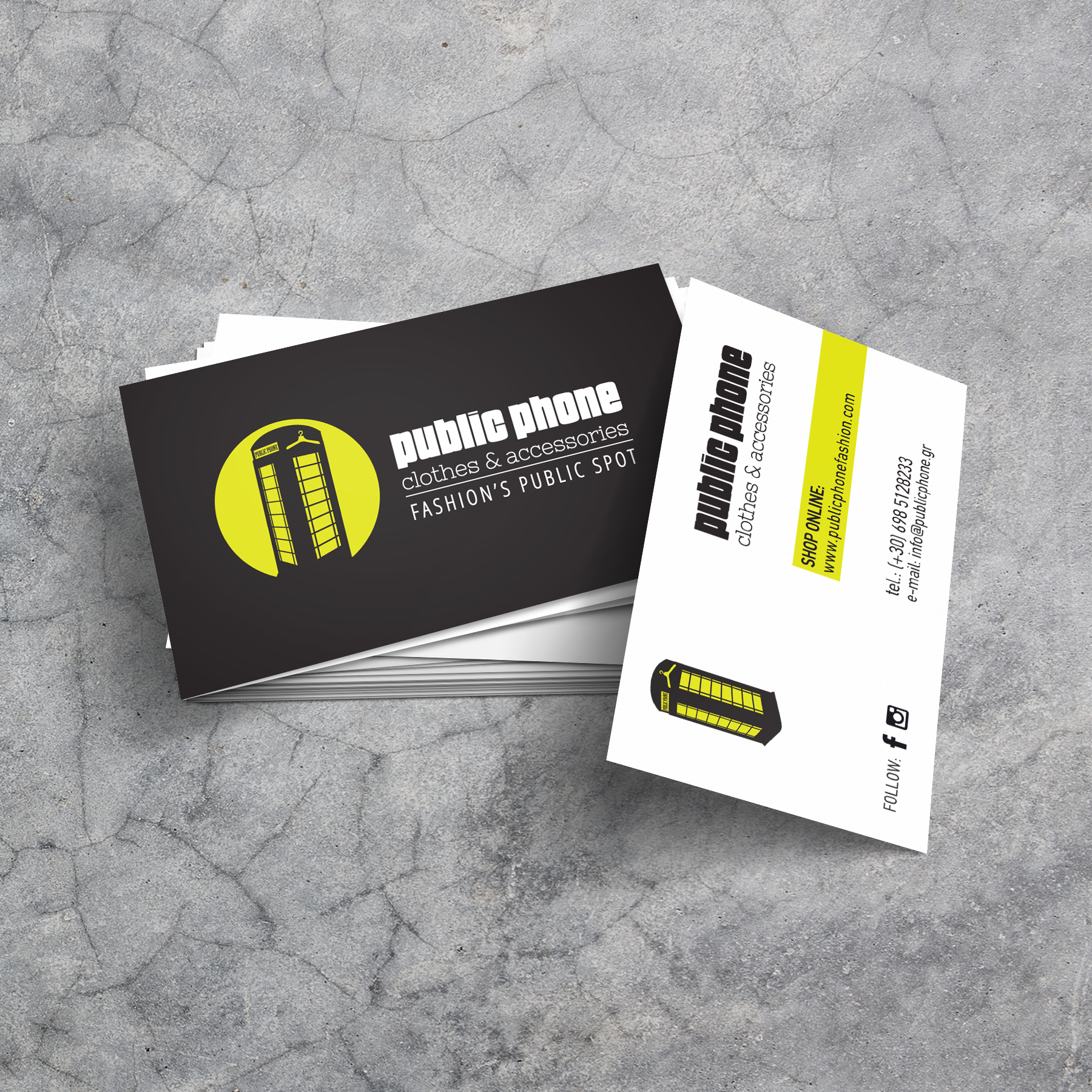 Public Phone fashion business cards