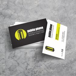 Public Phone fashion business cards