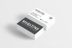 Magazine business cards