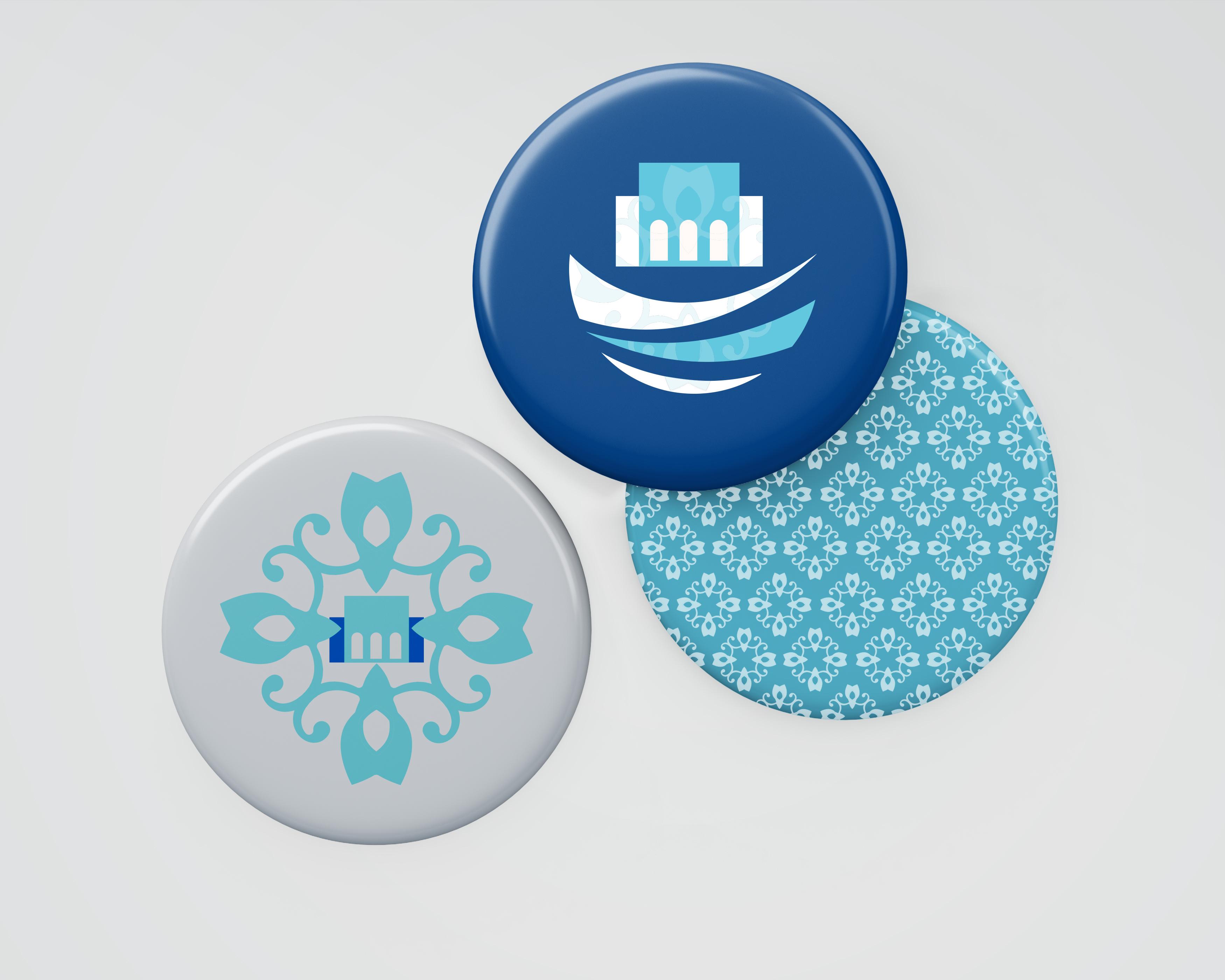 Logo applied on badges