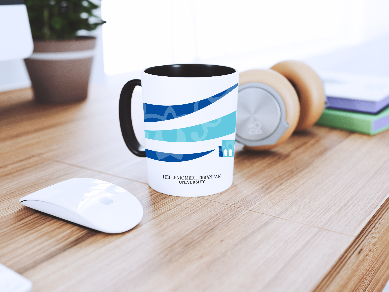 Logo applied on coffee mug