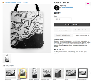 My artwork on society6 online store*
