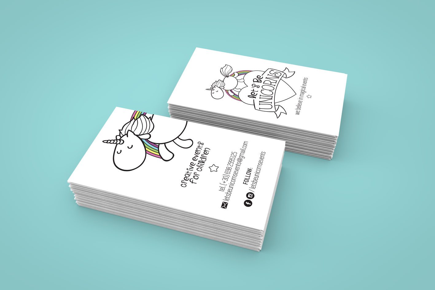 Lets be unicorns business cards