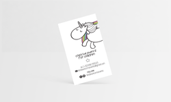 Lets be unicorns business card
