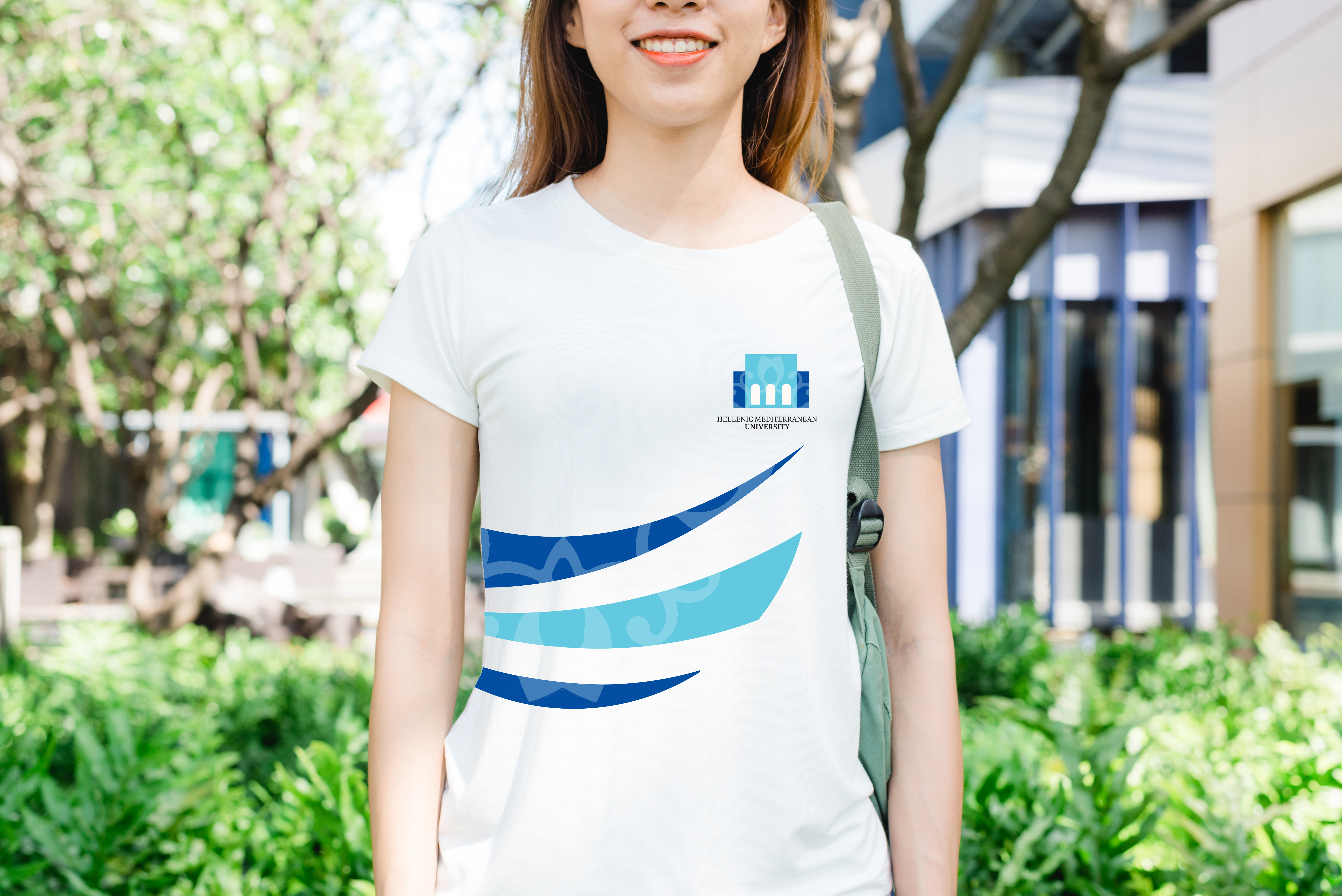 Logo applied on t-shirt