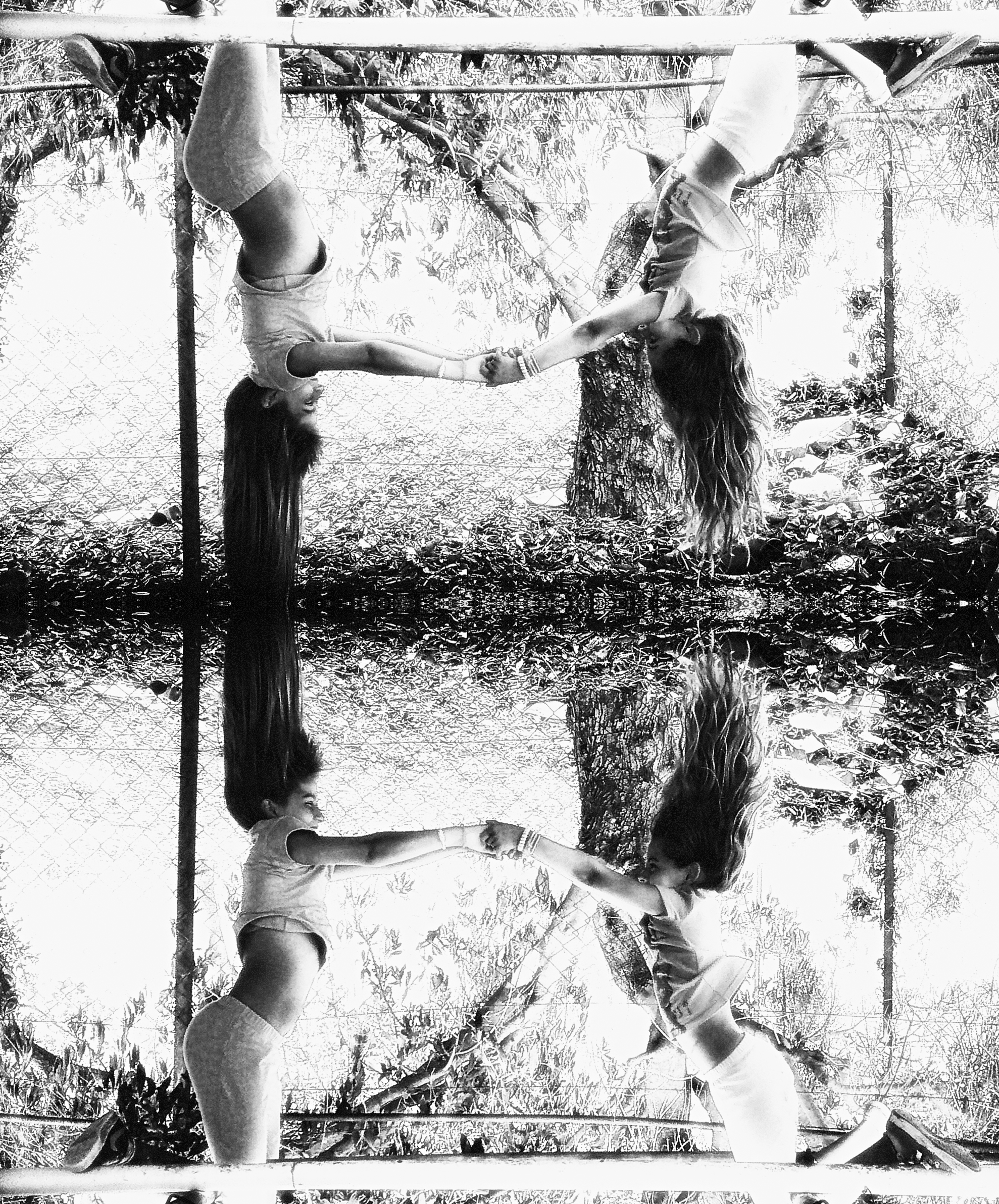 friends forever_mirror_b&w.jpg