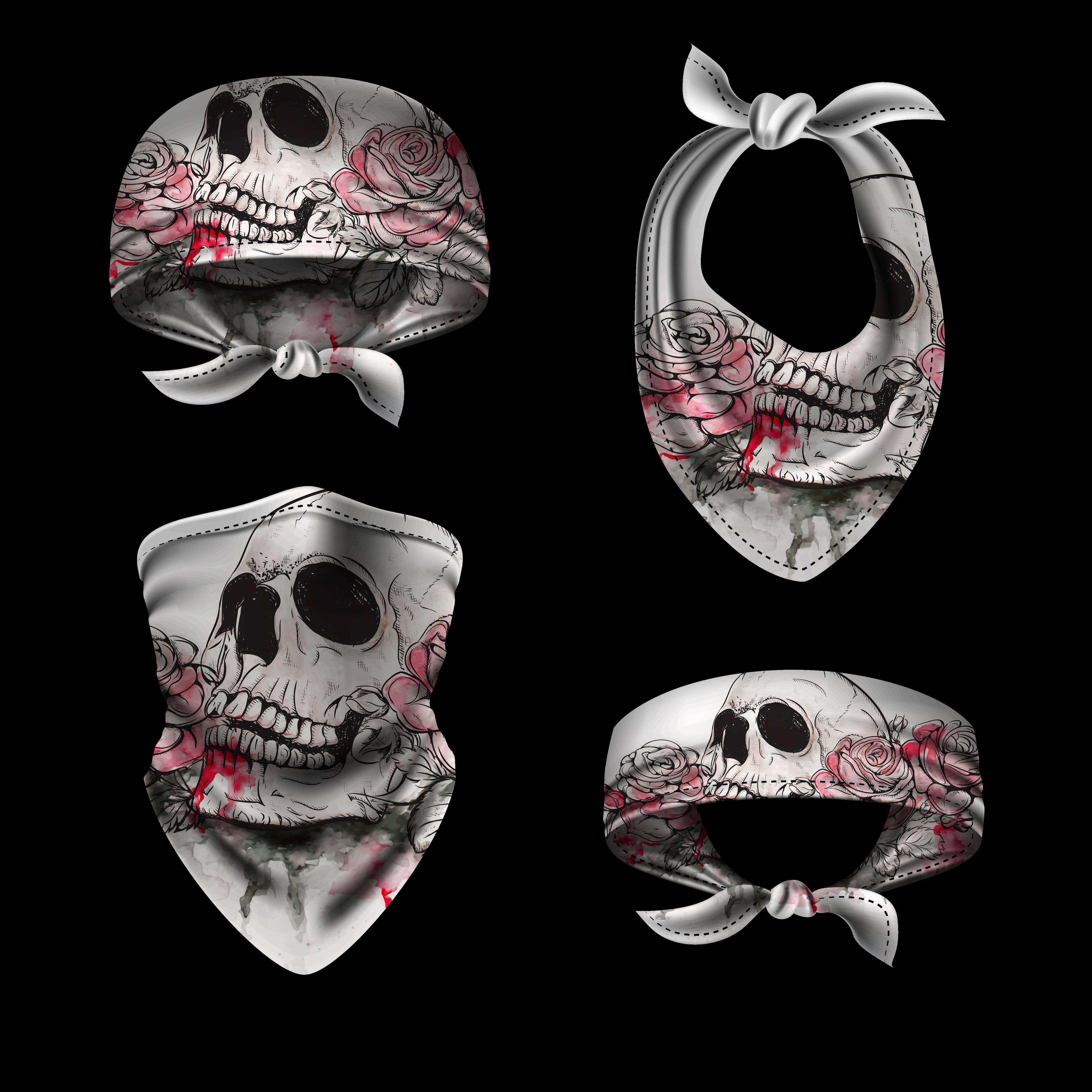 Buffer Rose Skull