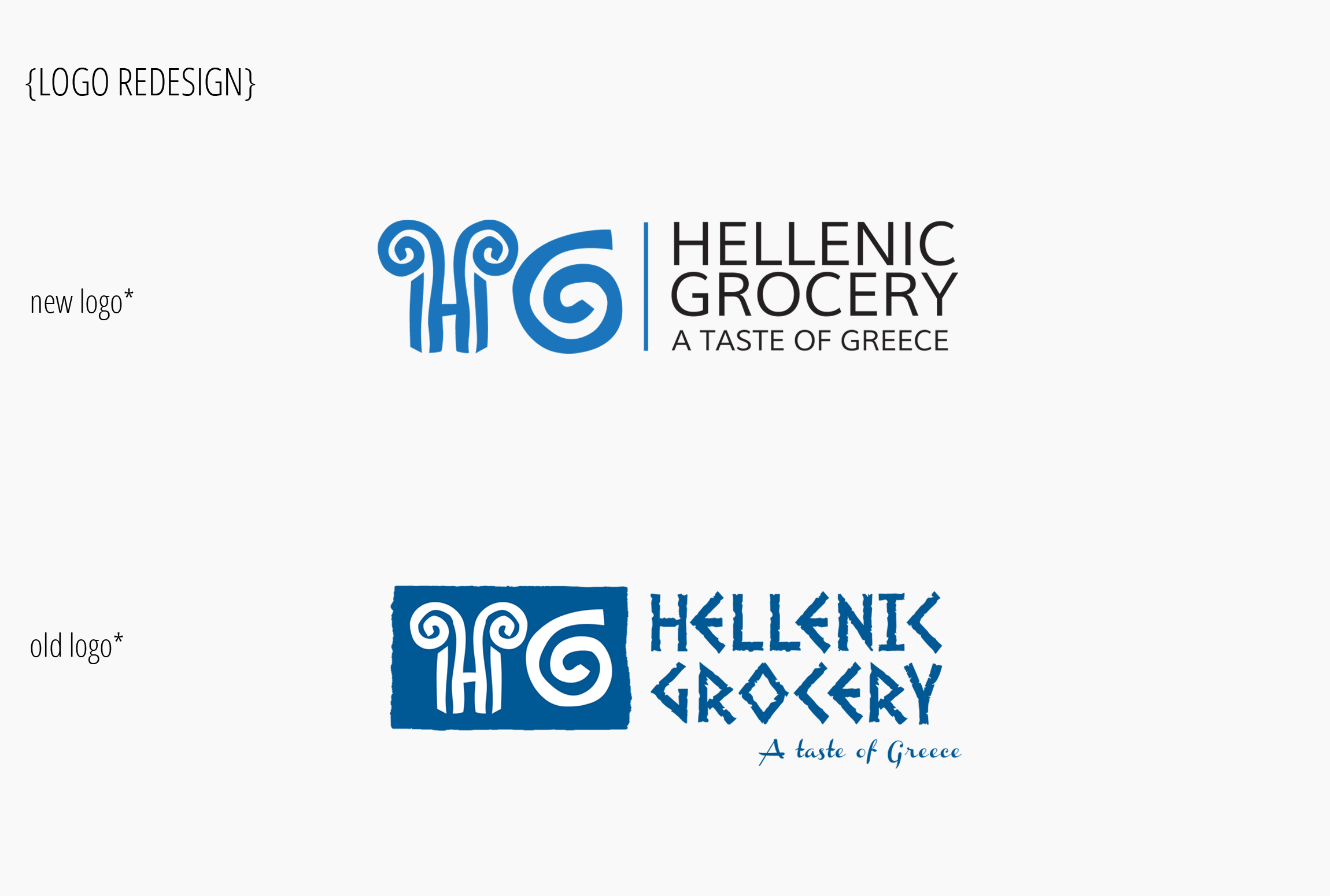 Hellenic grocery logo redesign