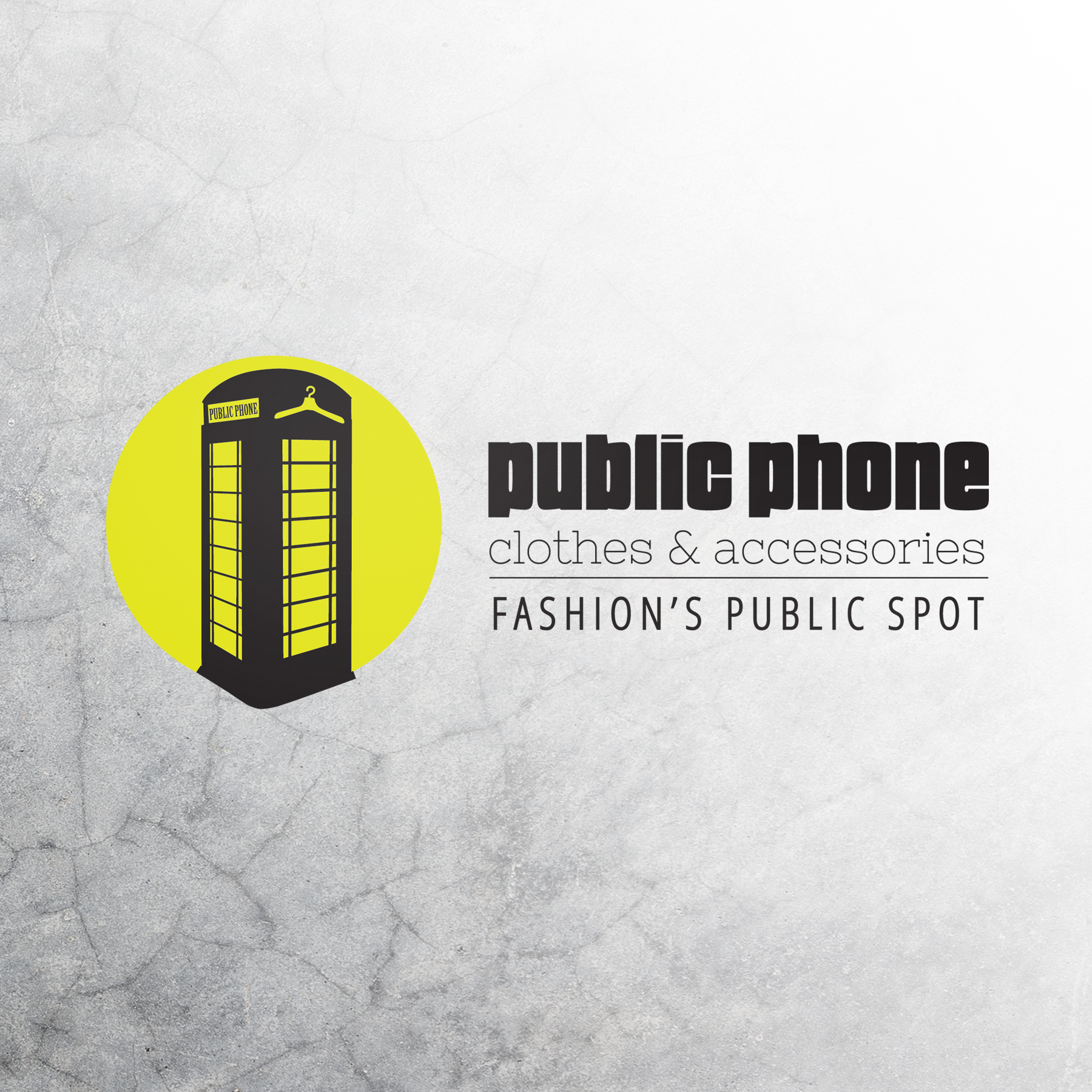 Public Phone fashion logo