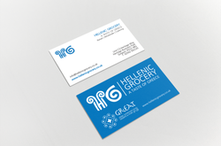 Hellenic grocery business cards