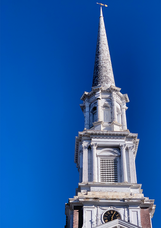 Perfect sky, perfect steeple
