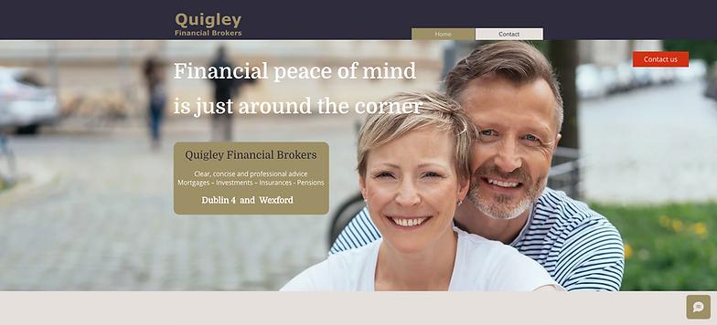 Financial brokers website design