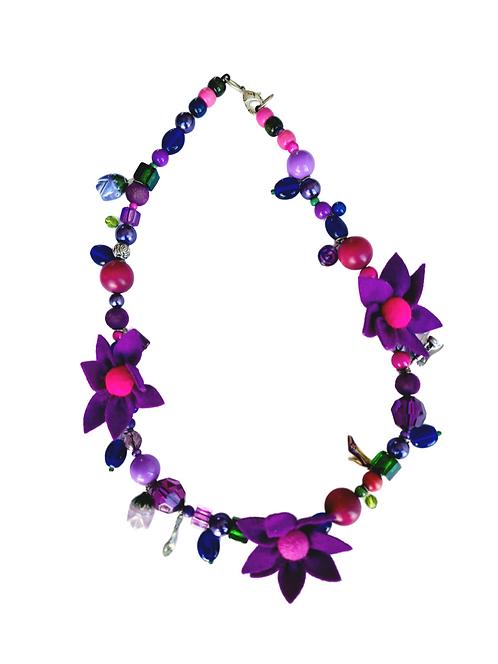 Floral Fruit Charm Necklace