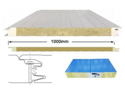 Concealed nail wall panelⅠ- pu edge sealing rock wool sandwich panel