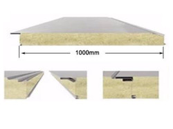 Concealed nail wall panelⅢ- rock wool composite sandwich panel