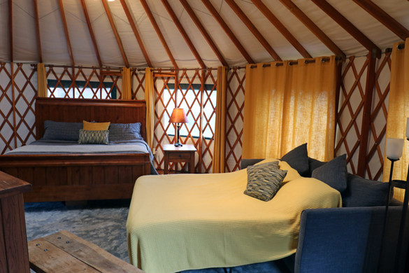 Plenty of room for you and the kiddos in the Nantahala yurt, or keep the pull-out closed for a more intimate coulple's stay.