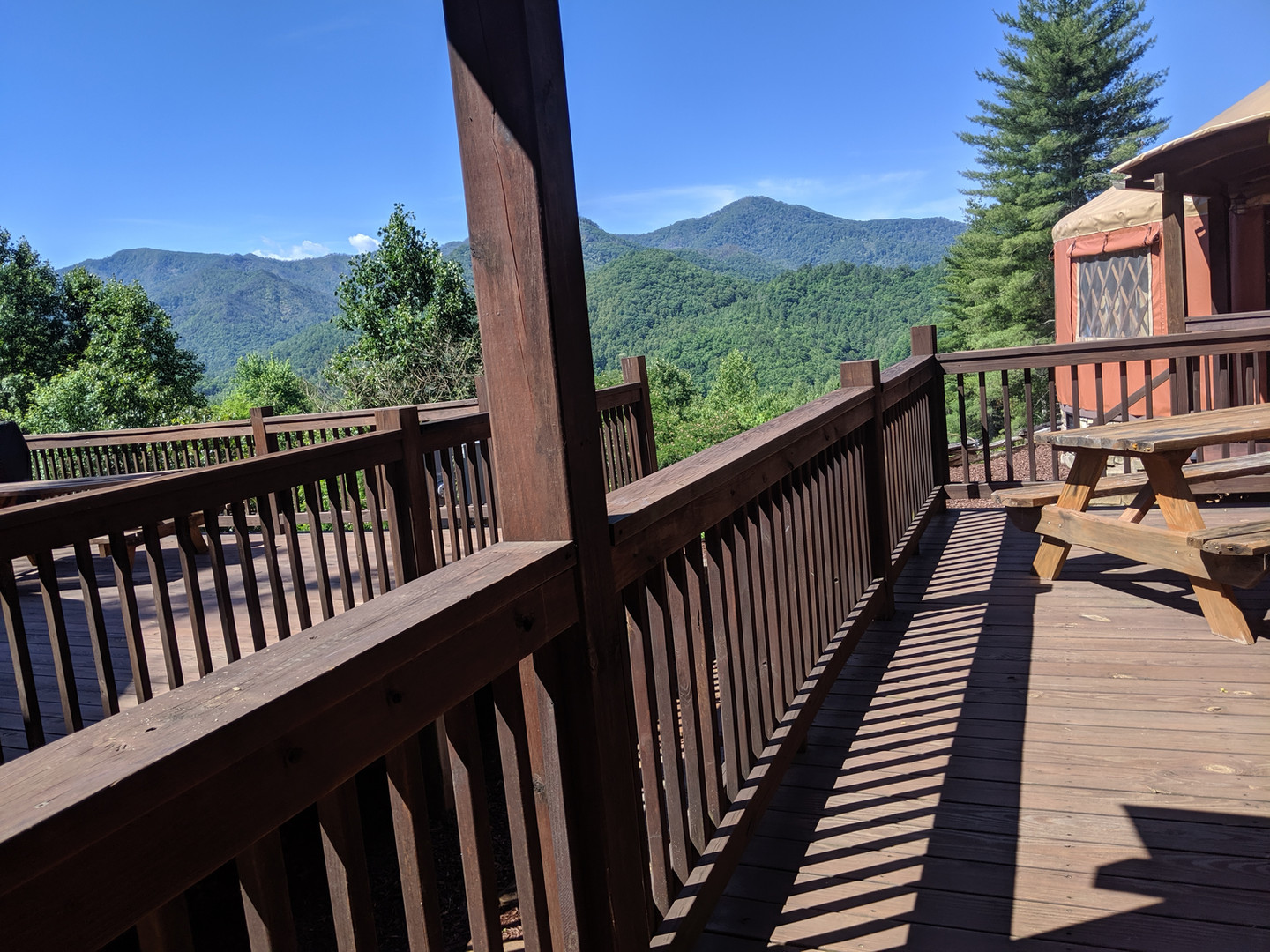 The view of the Nantahala Gorge is stunning from the Tsali's deck.