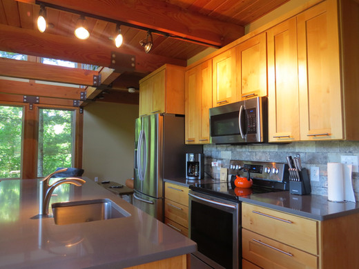 The Stecoah House kitchen is well equipped and large enough to seat four.