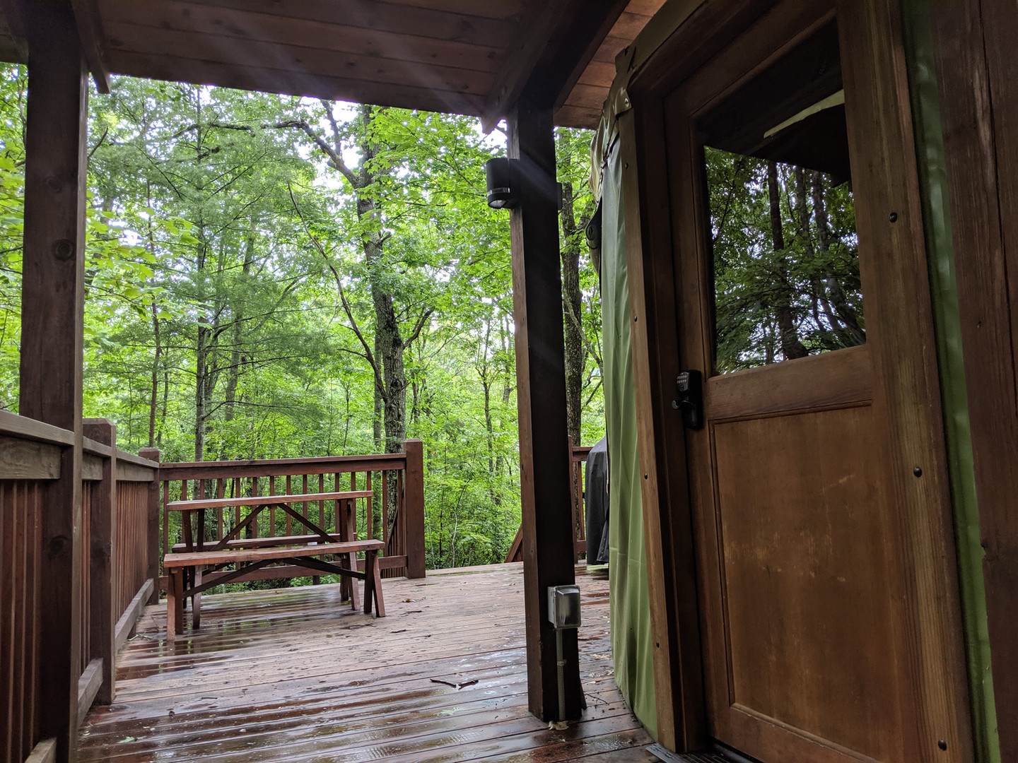 Plenty of room on the deck for a picnic or grilling out.