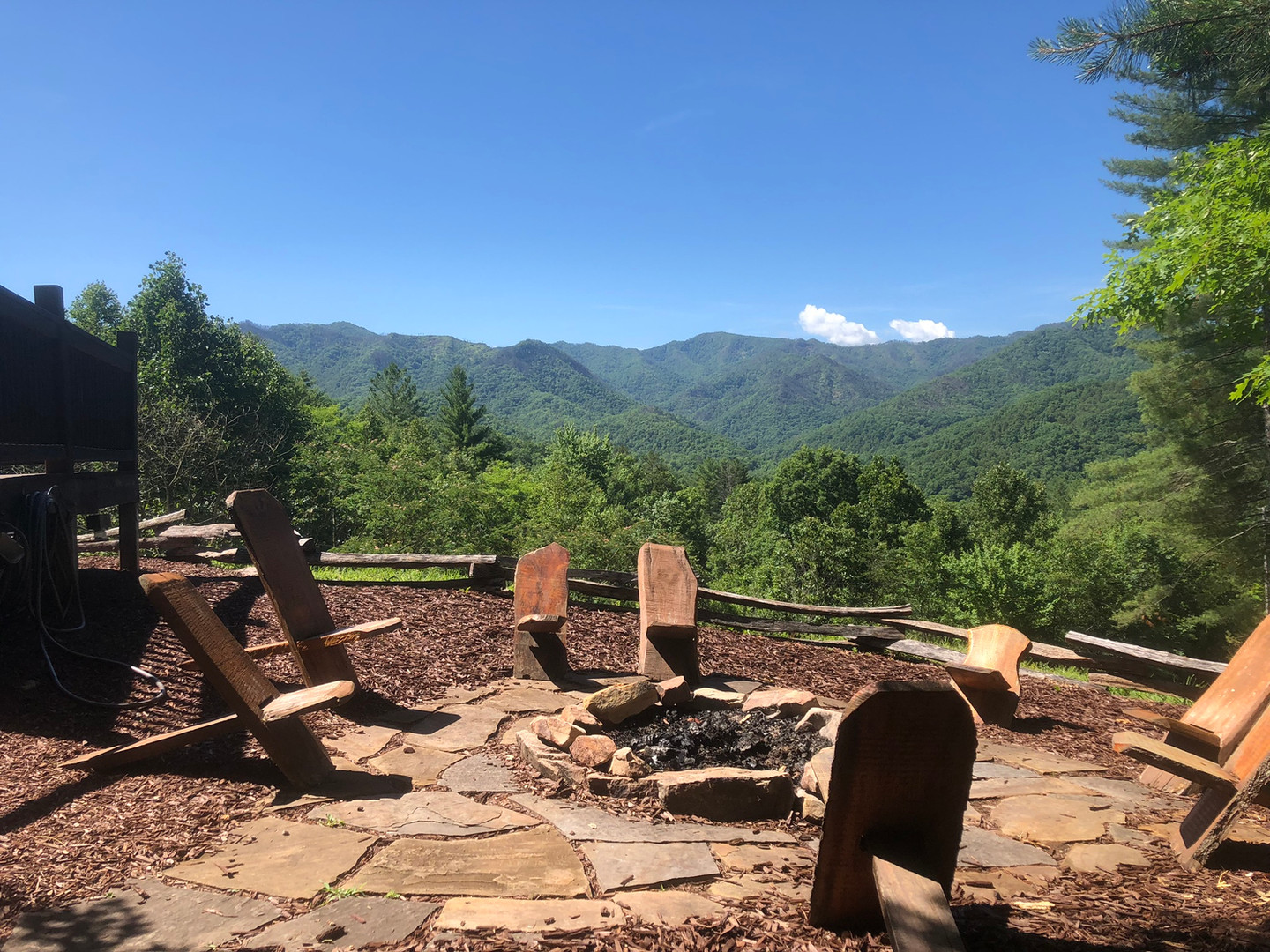 The Nantahala sits closest to the large shared fire pit and is a great place to meet new friends.