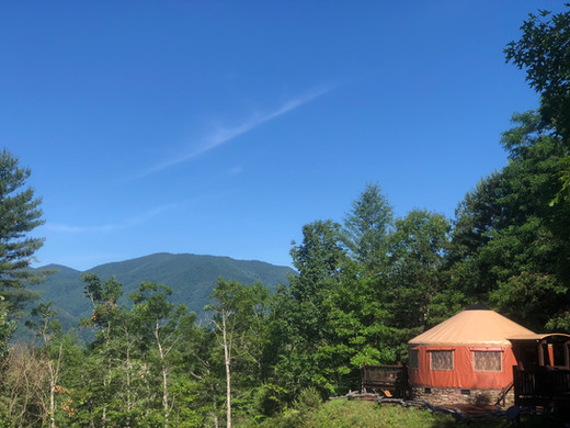 Nothing but big sky over the Nantahala yurt!