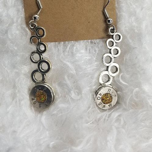 40 auto bubble gold glitter earrings