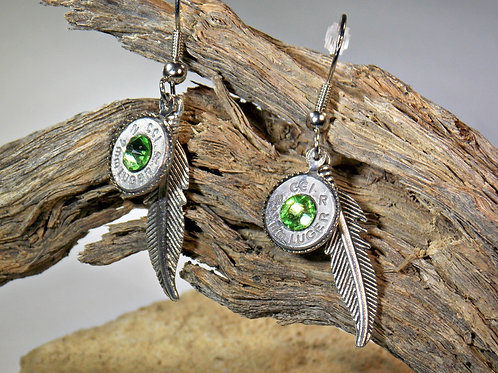 9mm Feather Charm Earrings
