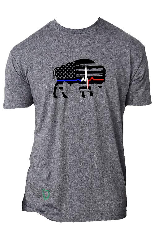 Lifeline EKG Bison T Shirt