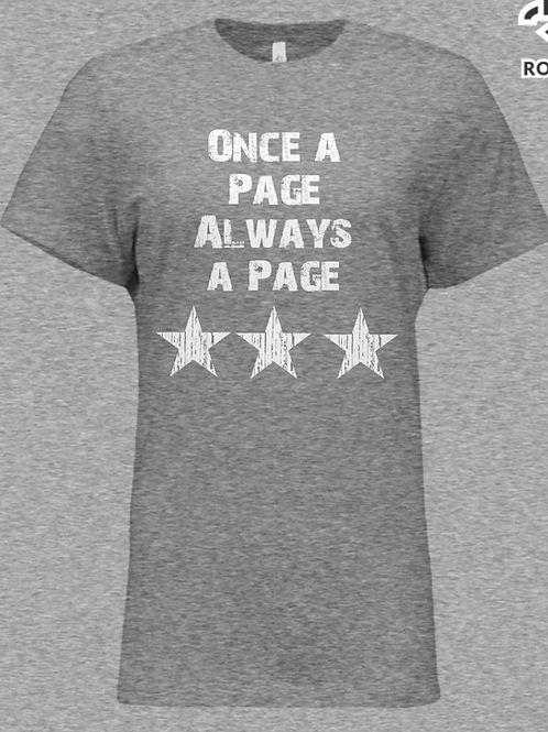 Once a Page Always a Page T-shirt