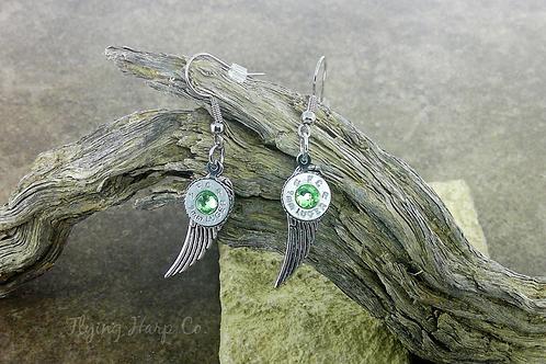 9mm Seraphim Wing Charm Earrings