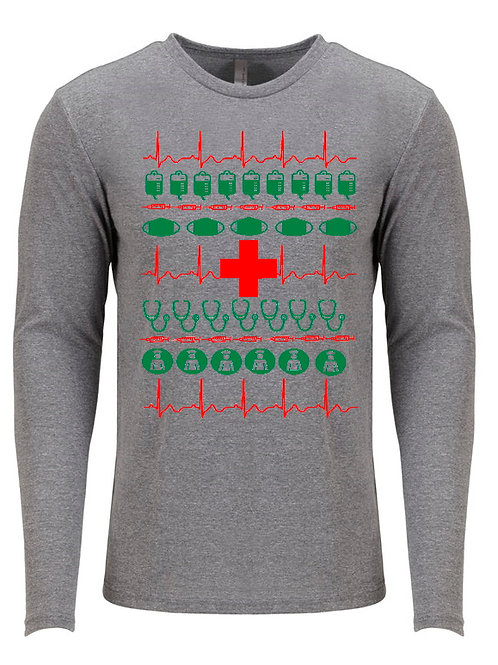 Medical Christmas Sweater- Long Sleeve