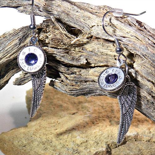 9mm Archangel Wing Earrings