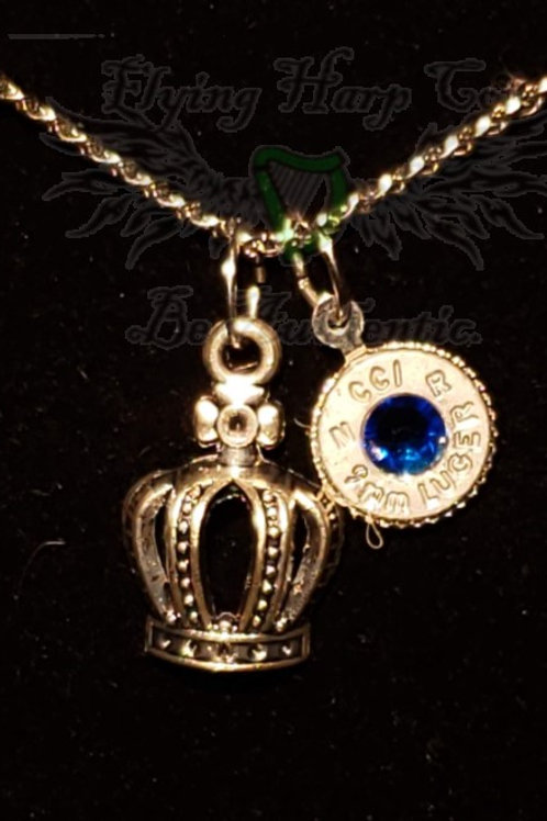 9mm Crown Charm Necklace