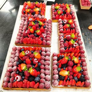 Carrés fruits rouges