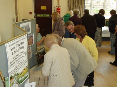 Some photos of the exhibition panels, and the all-important tea and cakes!