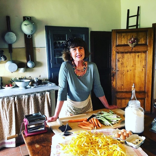 Our deliteful cooking teacher Elena