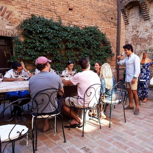 A group at Castello Tricerchi