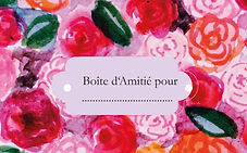 Geschenk Boîte d`Amitié