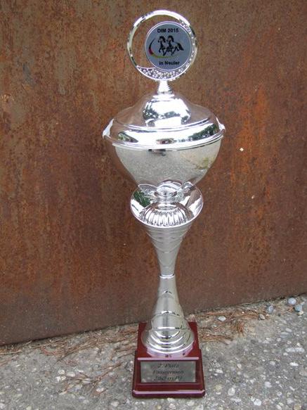 Pokal 2. Platz DIM 2015 Neuler
