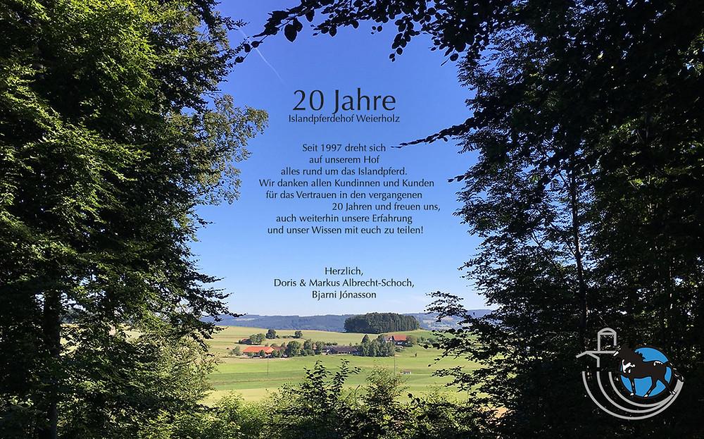 Jubiläumsfest 20 Jahre Weierholz