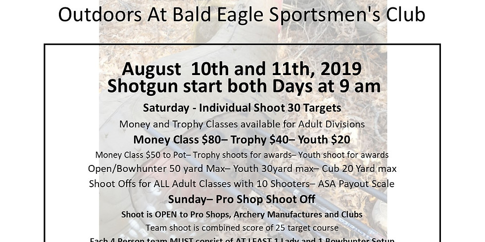 2019 Wild River Archery 3D Money Shoot and Pro Shop Shootoff
