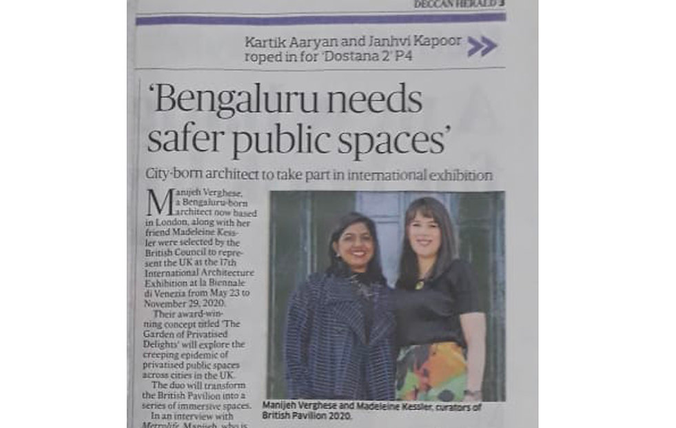 Manijeh interviewed by the Deccan Herald newspaper
